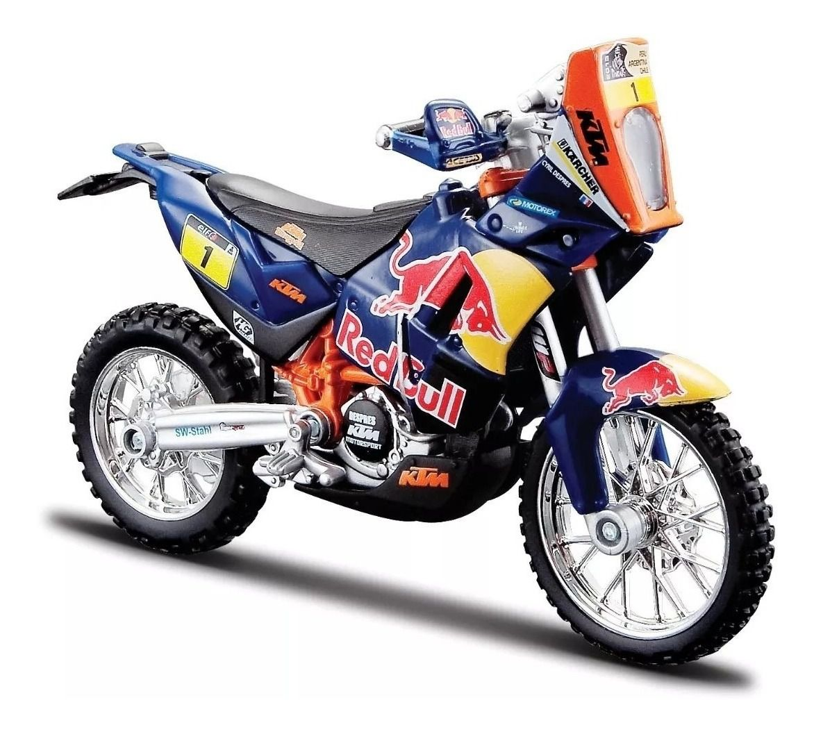 Miniatura Moto KTM 450 Rally (Dakar Rally) Red Bull Factory Racing - 1:18 - Burago