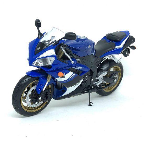 Miniatura Moto Yamaha YZF-R1 - Azul - 1:10 - Welly