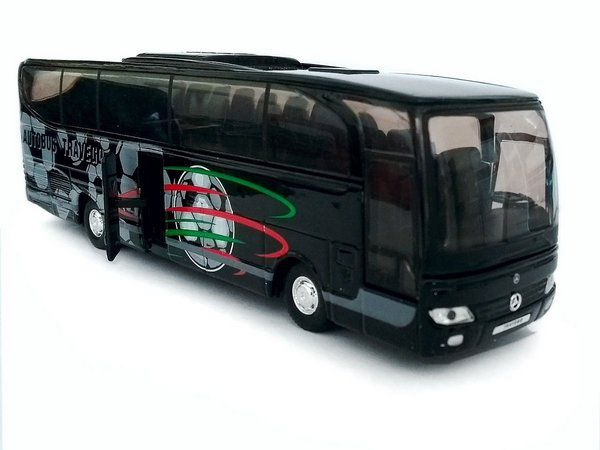 Miniatura Ônibus Mercedes Benz Travego - Preto - 1:60 - Welly