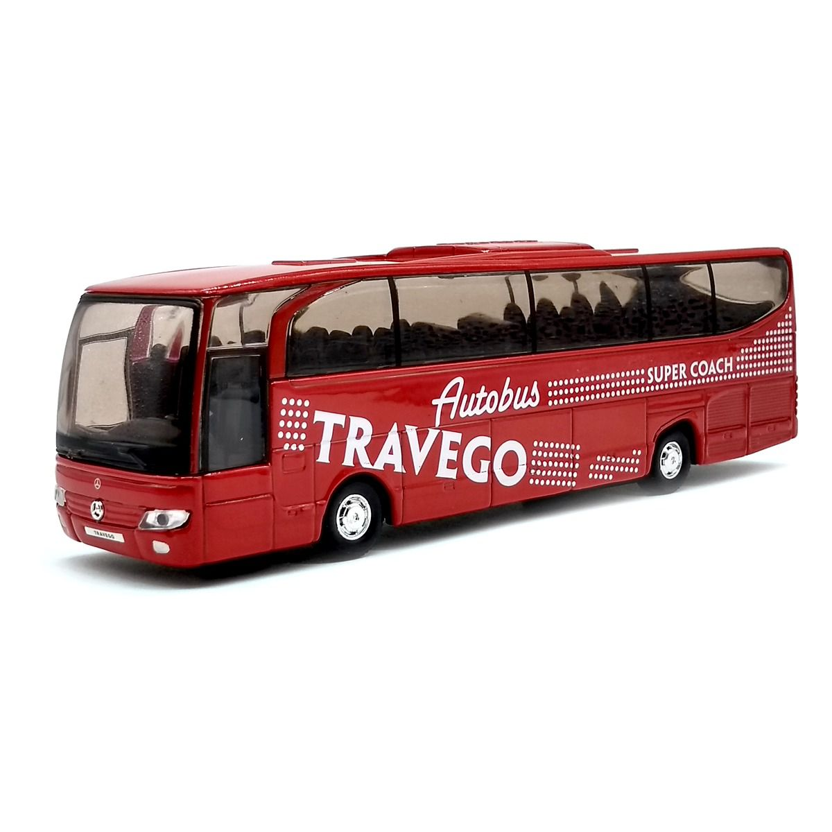 Miniatura Ônibus Mercedes Benz Travego - Vermelho - 1:60 - Welly