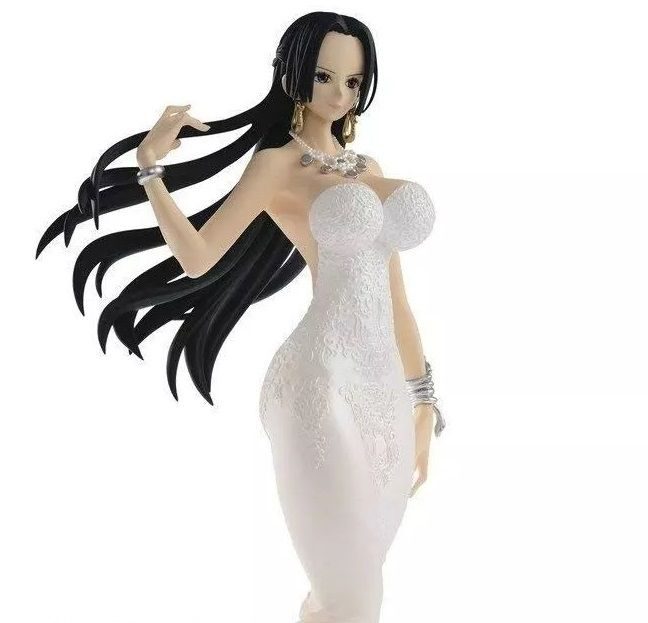 One Piece Wedding Boa Hancock Action Figure - Branca