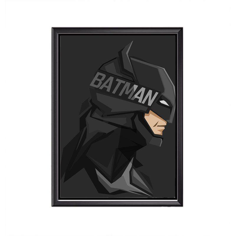 Quadro Poster Minimalista Face  Batman