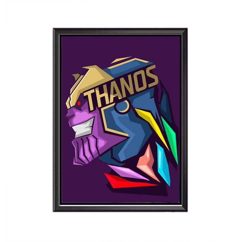 Quadro Poster Minimalista Face Thanos