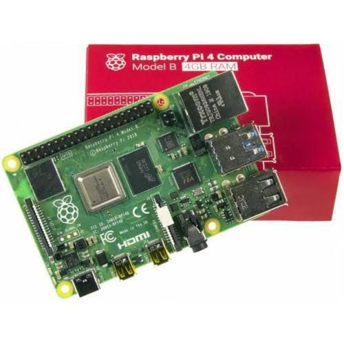 Raspberry Pi 4 Modelo 4 GB de memória RAM DDR4 - Kit completo