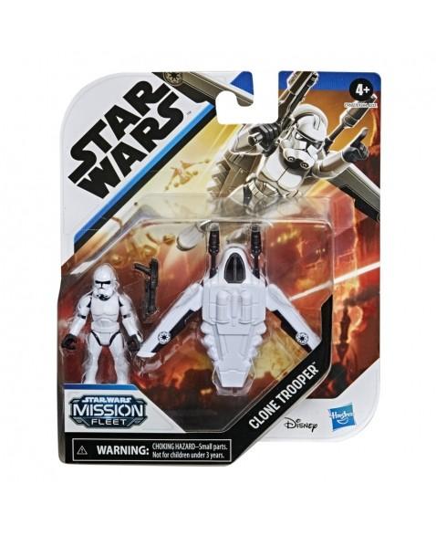 Veículo e Mini Figura Articulada - Disney - Star Wars - Mission Fleet - Clone Trooper - Hasbro