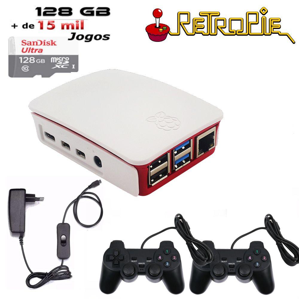 Vídeo Game Retro de 128GB com 2 Controles - Raspberry PI 4