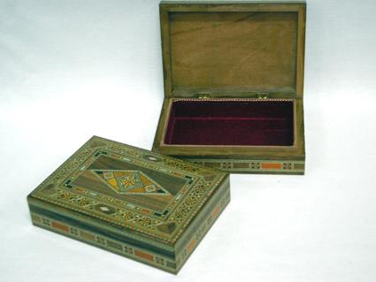 Caixa de mosaico marchetado com madre-pérola (Grande) -cod.556