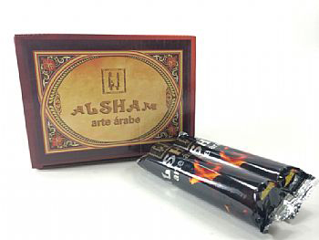 Carvão para Narguile tipo pastilha, AL SHAM, caixa com 100 pastilhas - cód.769