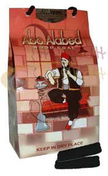 Carvão de madeira natural  tipo bastão da marca Abo Alabed (1kg) -ORIGINAL -cod.136