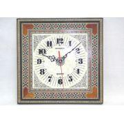 Relógio de mosaico marchetado com madre-pérola -cod.562