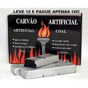 Carvão pastilha para Narguile e Incenso. Super Promoção: LEVE 12 E PAGUE 10  (cada caixa contém 80 pastilhas)  cod.836