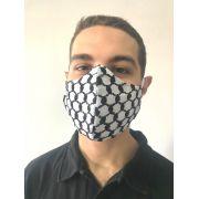 Kit 6 Máscaras de tecido lavável 3 camadas alta proteção de keffiyeh lenço árabe palestino