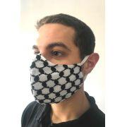 Kit 3 Máscaras de tecido lavável 3 camadas alta proteção de keffiyeh lenço árabe palestino