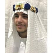 Lenço Árabe e Cordão Color, Shemagh, Kefieh, Ikal, igal