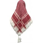 Lenço Árabe Palestino, Kafieh, Shemagh , original com franjas (vermelho) Ref.28