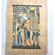 Papiro Egípcio original com temas Faraônicos, 40x30 cm