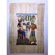 Papiro Egípcio original com temas Faraônicos, 40x30 cm. Ref.03