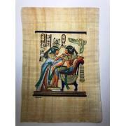 Papiro Egípcio original com temas Faraônicos, 40x30 cm. Ref.04