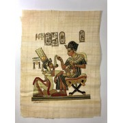 Papiro Egípcio original com temas Faraônicos, 40x30 cm. Ref.05