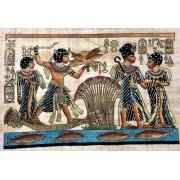 Papiro Egípcio original com temas Faraônicos, 40x30 cm. Ref.06
