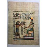 Papiro Egípcio original com temas Faraônicos – Ref.59