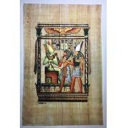 Papiro Egípcio original com temas Faraônicos – Ref.63