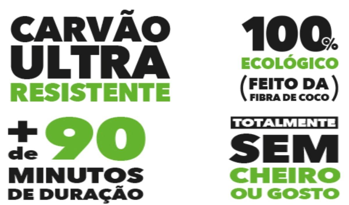Carvão Zomo Coco Para Narguilé 500g