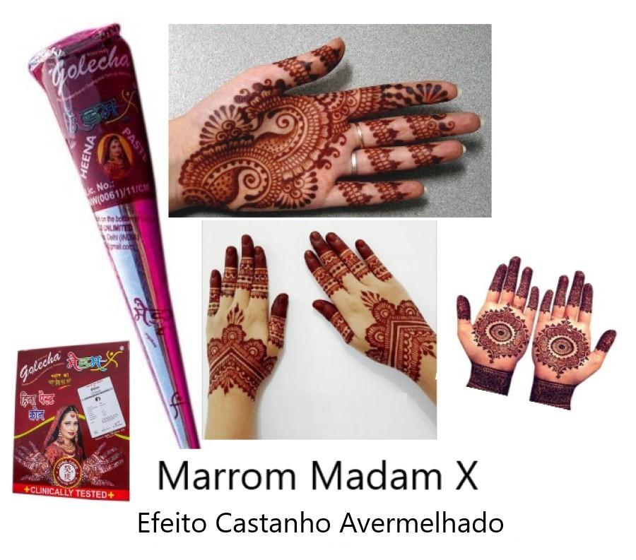 Henna Indiana, Tatuagem Temporária,  Sobrancelha, várias cores
