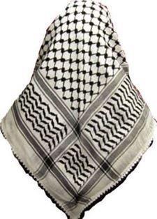 Lenço Palestino, Kafieh, Shemagh  clássica com alta textura (Preta) cod.33