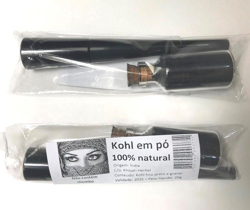Kohl, Kajal pó indiano, 100% natural, sem chumbo. Ref.499