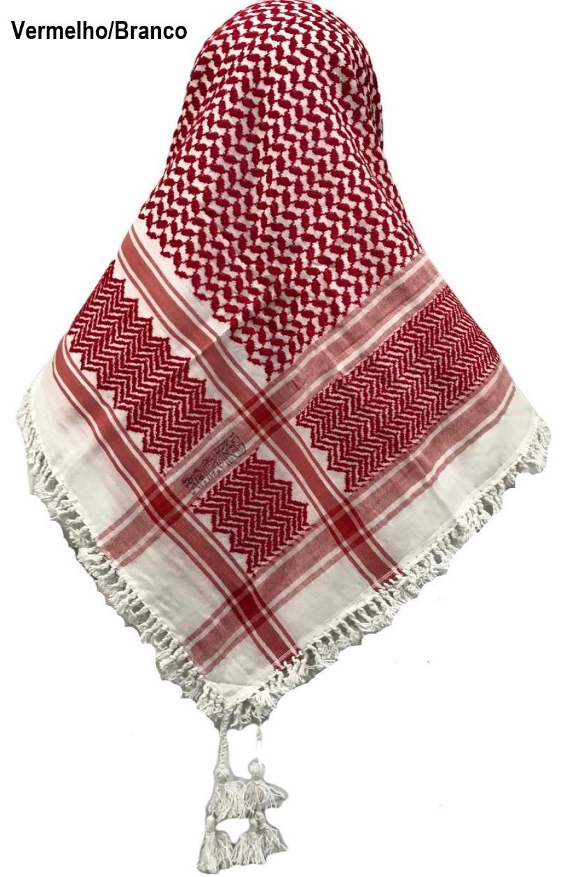 Lenço Árabe Palestino, Kafieh, Shemagh  original com franjas alta textura