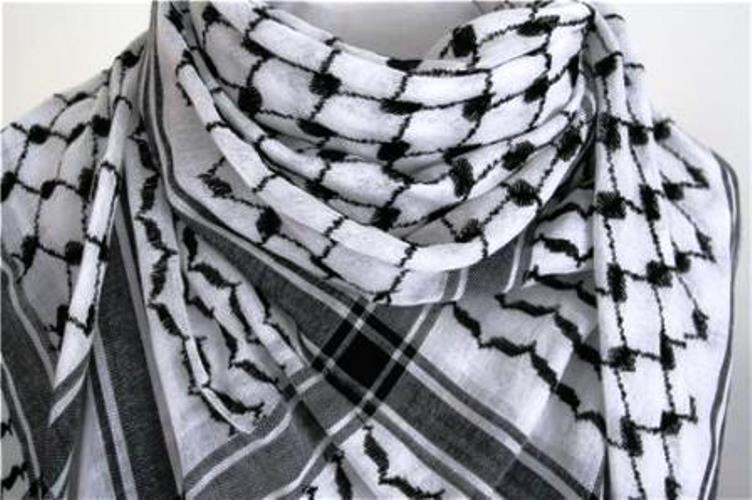 Lenço Árabe Palestino, Kafieh, Shemagh tradicional (Preta) Ref.26