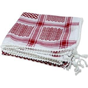 Lenço Palestino Vermelho e Cordão Preto (Shemagh / Kefieh e Ikal) cod.514