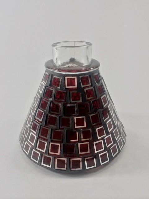 Narguile Petit Plus, com exclusiva base revestida com pastilhas de vidro (Vermelho) cod.92