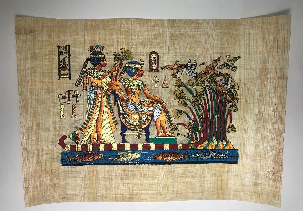 Papiro Egípcio original com temas Faraônicos – Ref.101