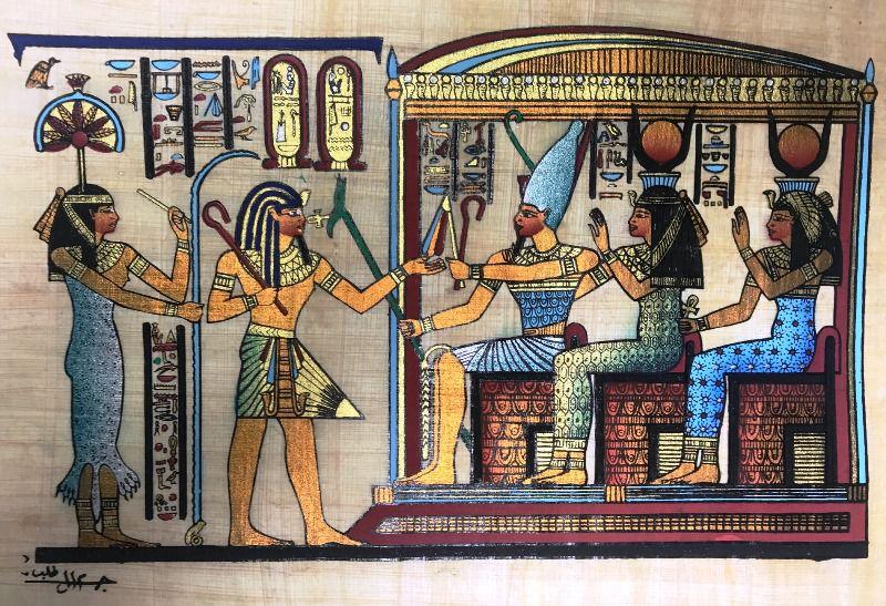 Papiro Egípcio original com temas Faraônicos – Ref.102