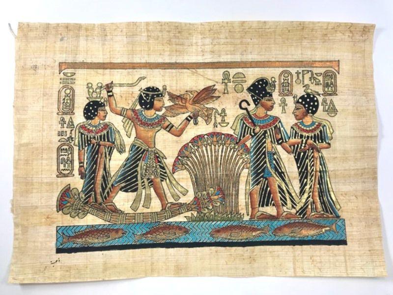 Papiro Egípcio original com temas Faraônicos – Ref.104