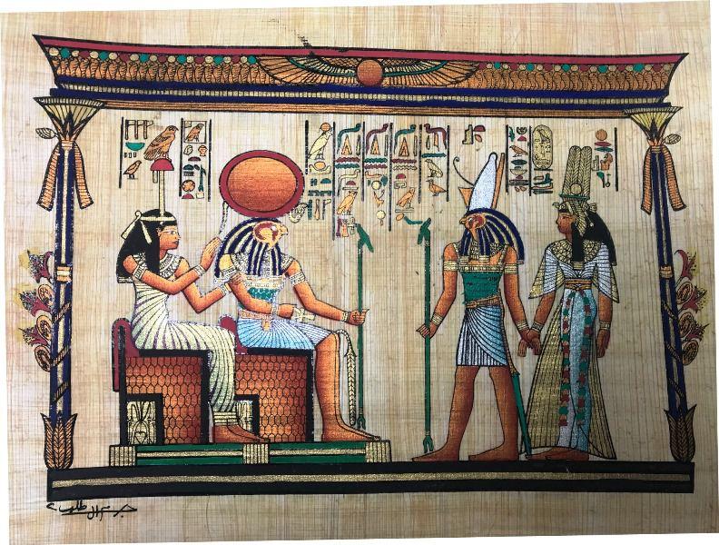 Papiro Egípcio original com temas Faraônicos – Ref.107