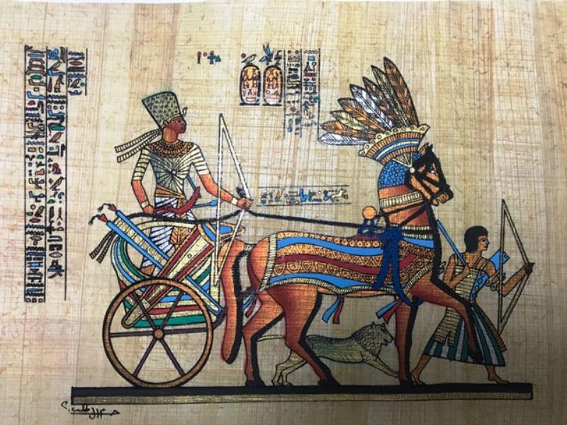 Papiro Egípcio original com temas Faraônicos – Ref.110