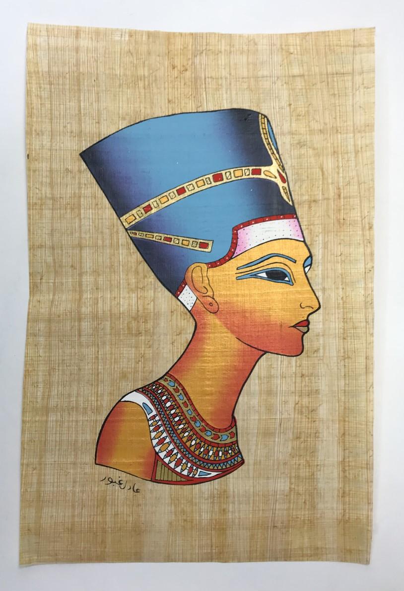 Papiro Egípcio original com temas Faraônicos. Ref.40