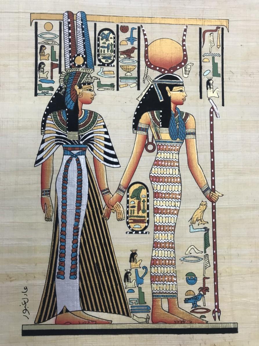 Papiro Egípcio original com temas Faraônicos. Ref.48