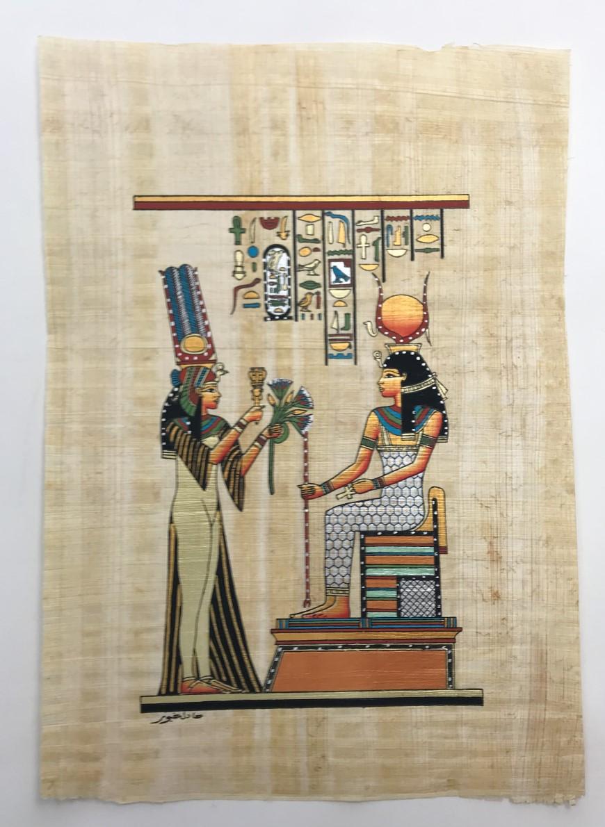 Papiro Egípcio original com temas Faraônicos. Ref.53