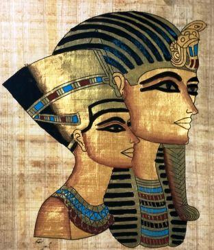 Papiro Egípcio original com temas Faraônicos – Ref.65