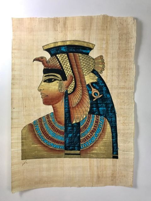 Papiro Egípcio original com temas Faraônicos – Ref.66