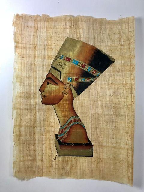 Papiro Egípcio original com temas Faraônicos – Ref.67