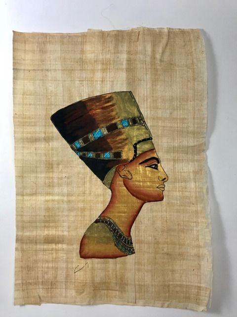 Papiro Egípcio original com temas Faraônicos – Ref.68