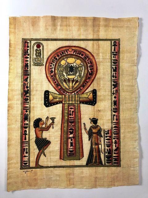 Papiro Egípcio original com temas Faraônicos – Ref.69