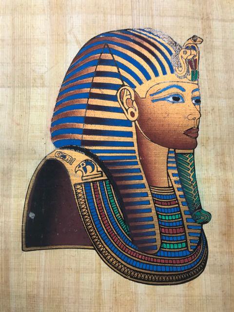 Papiro Egípcio original com temas Faraônicos – Ref.70