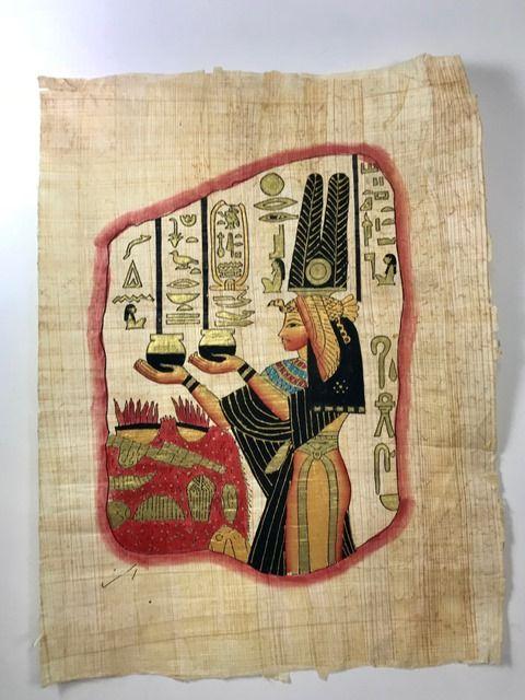 Papiro Egípcio original com temas Faraônicos – Ref.71