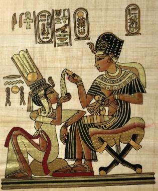 Papiro Egípcio original com temas Faraônicos – Ref.73